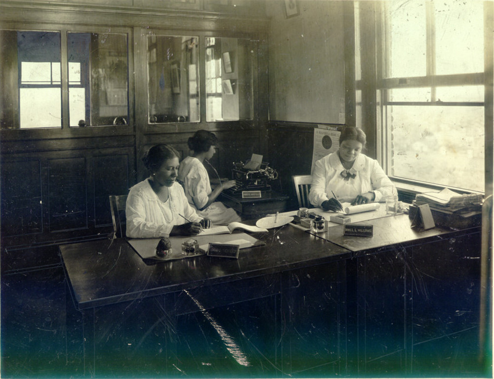 Circa 1910s-1920s photo of the bank's employees