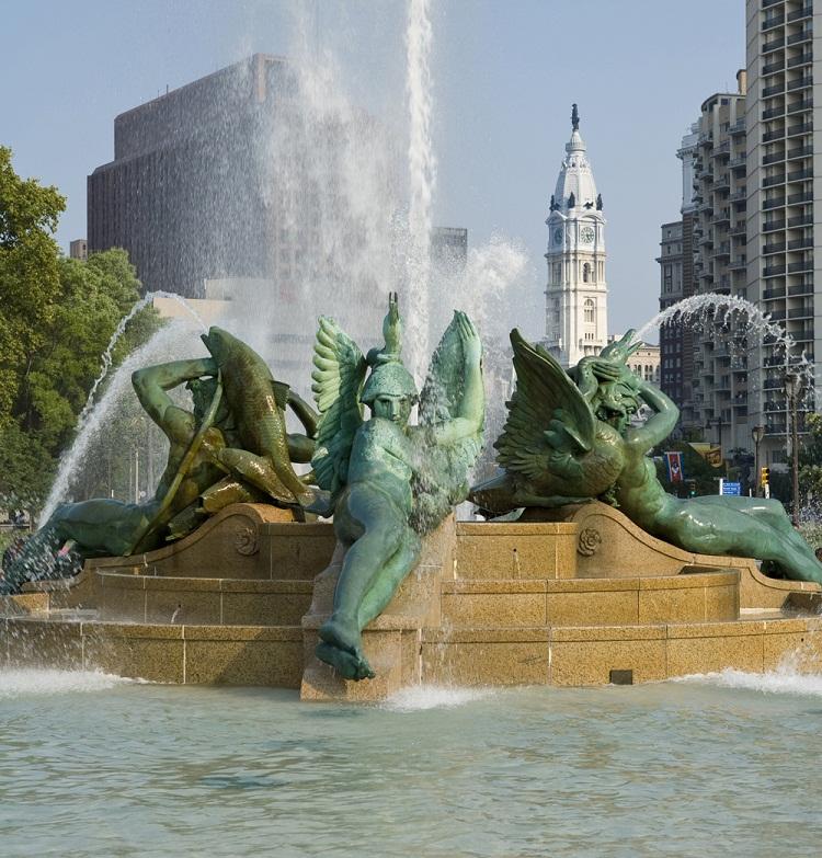 Swann Memorial Fountain (1924) by Alexander Stirling Calder, at Logan Square - Benjamin Franklin Parkway.