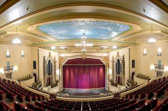 The Saenger Theatre opened in 1925 and has been restored thanks to an effort between the University of West Florida and leading residents of Pensacola.