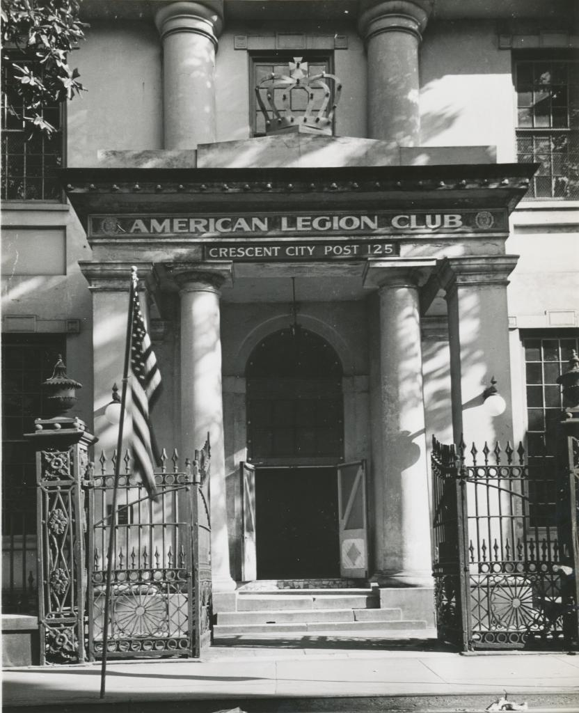 The old bank building when it served as an American Legion hall during the 20th century.