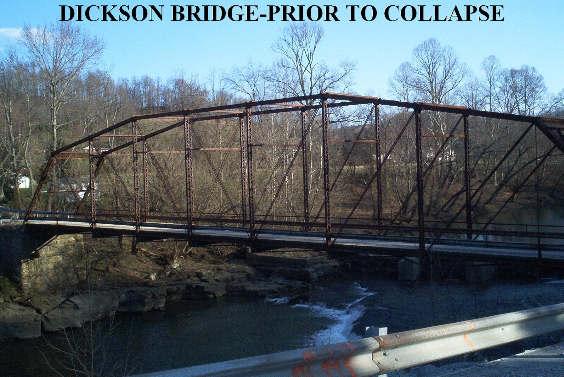 The bridge prior to collapse.