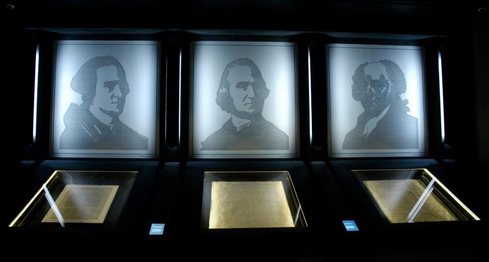 One of the highlights of the museum are the original documents of the America's Founding Fathers.