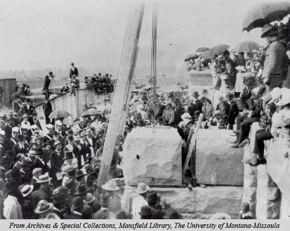 Laying the foundations of University Hall, ca. 1898