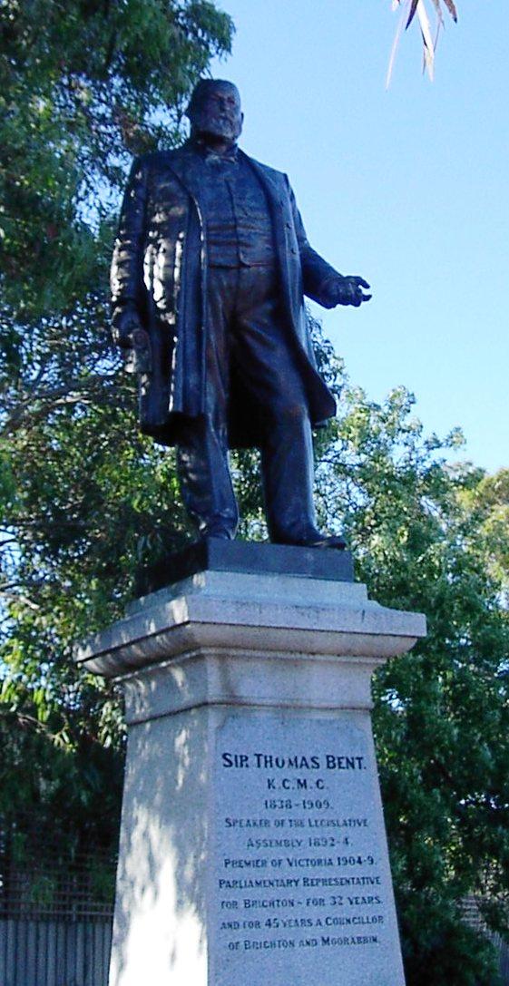 Thomas Benton Hoover statue in Fossil Oregon