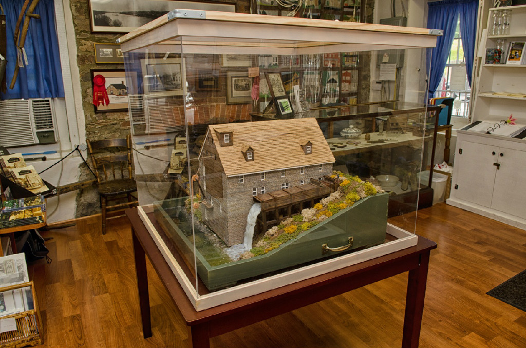 This model shows how the mill may have looked at the peak of its operations.