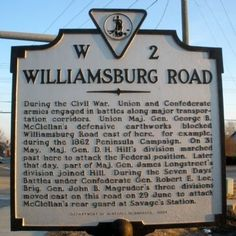 This marker shows the path of Confederate troops who attacked McClellan's defensive earthworks near this location during the Seven Days' Battles.