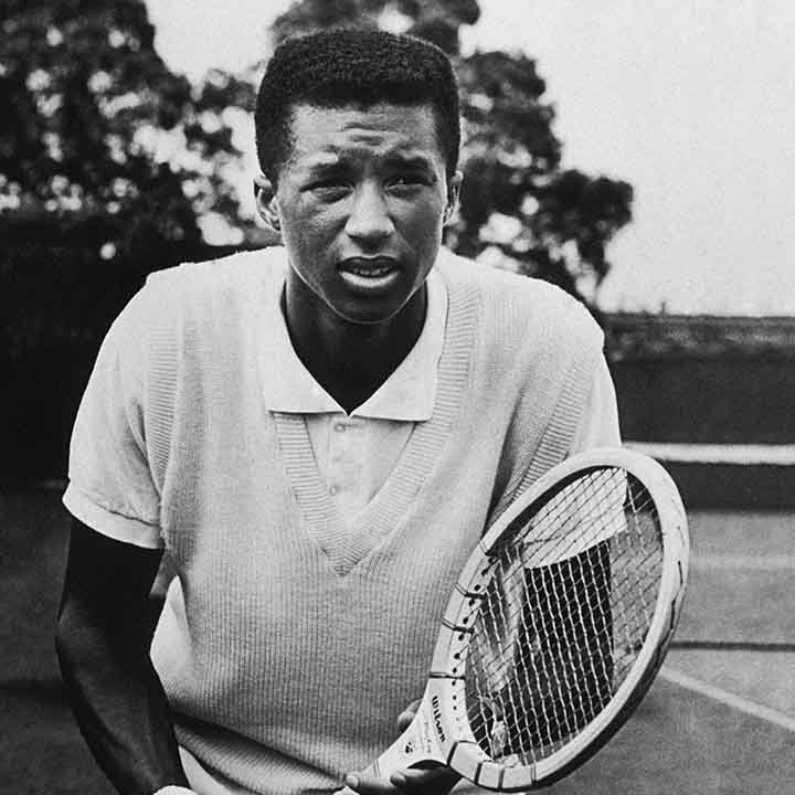 Arthur Ashe during his college career at UCLA