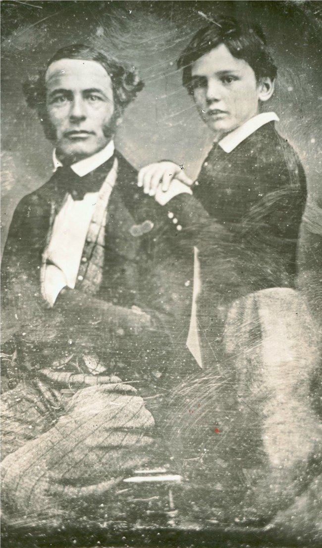 "Robert E. Lee and son William Henry Fitzhugh ""Rooney"" Lee"