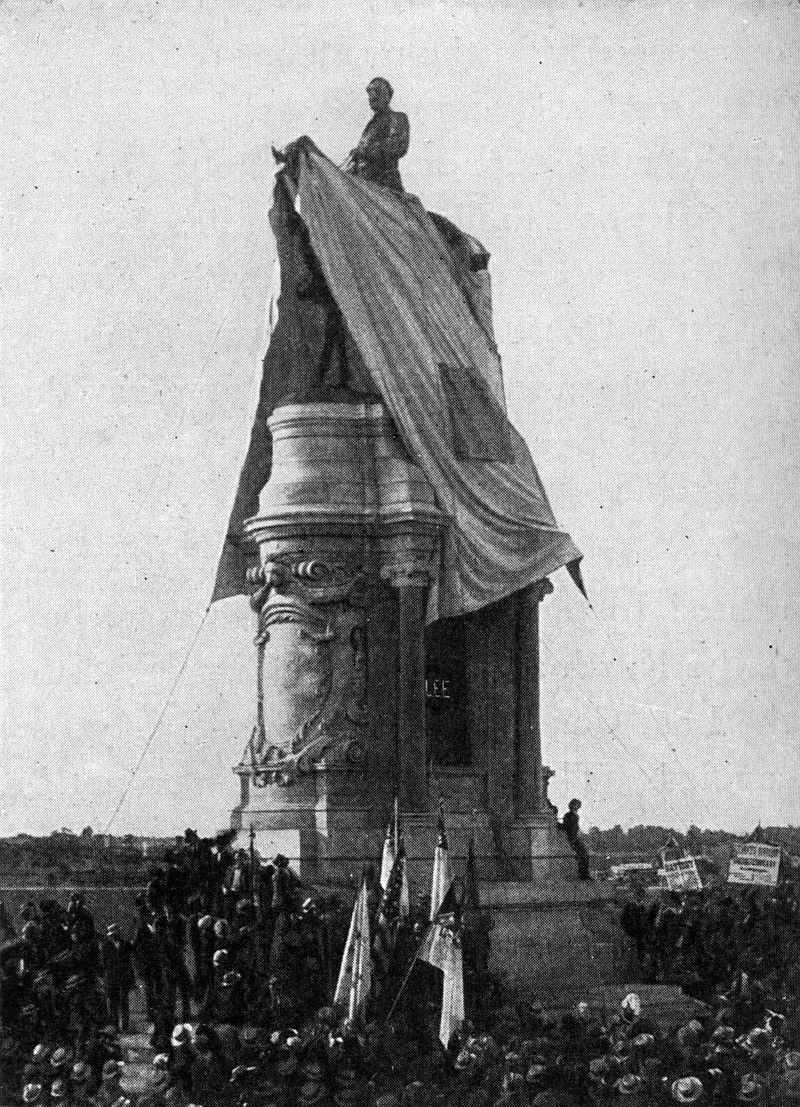 Unveiling of the monument in 1890.