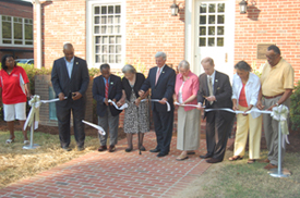 Ribbon cutting ceremony during the Grand Re-opening and Dedication of the Virginia Randolph Museum.
