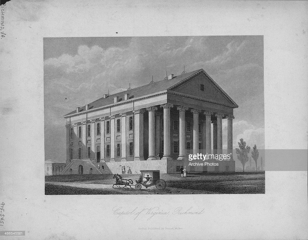 Another drawing, circa 1790-1800. Courtesy of Getty Images Archive Photos