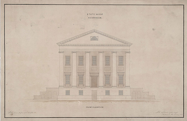 One of Jefferson's original plans for the capitol