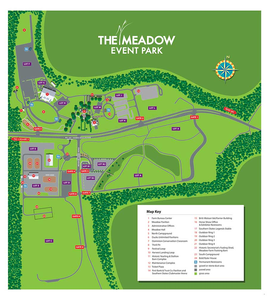 Map of the Meadow Park grounds