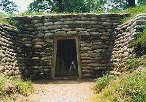 Restored entrance to the mine tunnel from Union lines that produced the infamous Crater