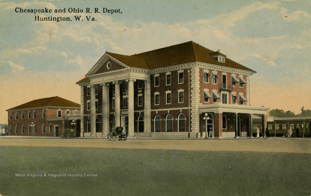 The second C&O depot, built in 1913