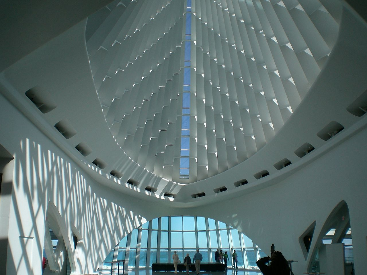 Interior view of the Quadracci Pavilion.
