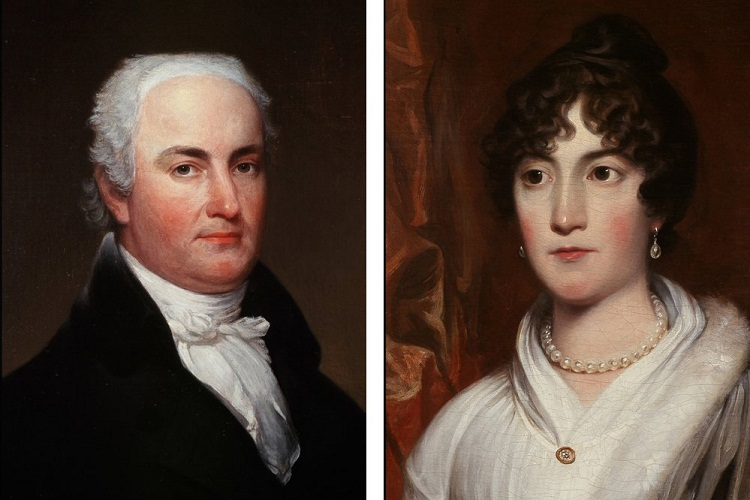 Portrait of Massachusetts Senator and Governor Christopher Gore and his wife Rebecca Gore.