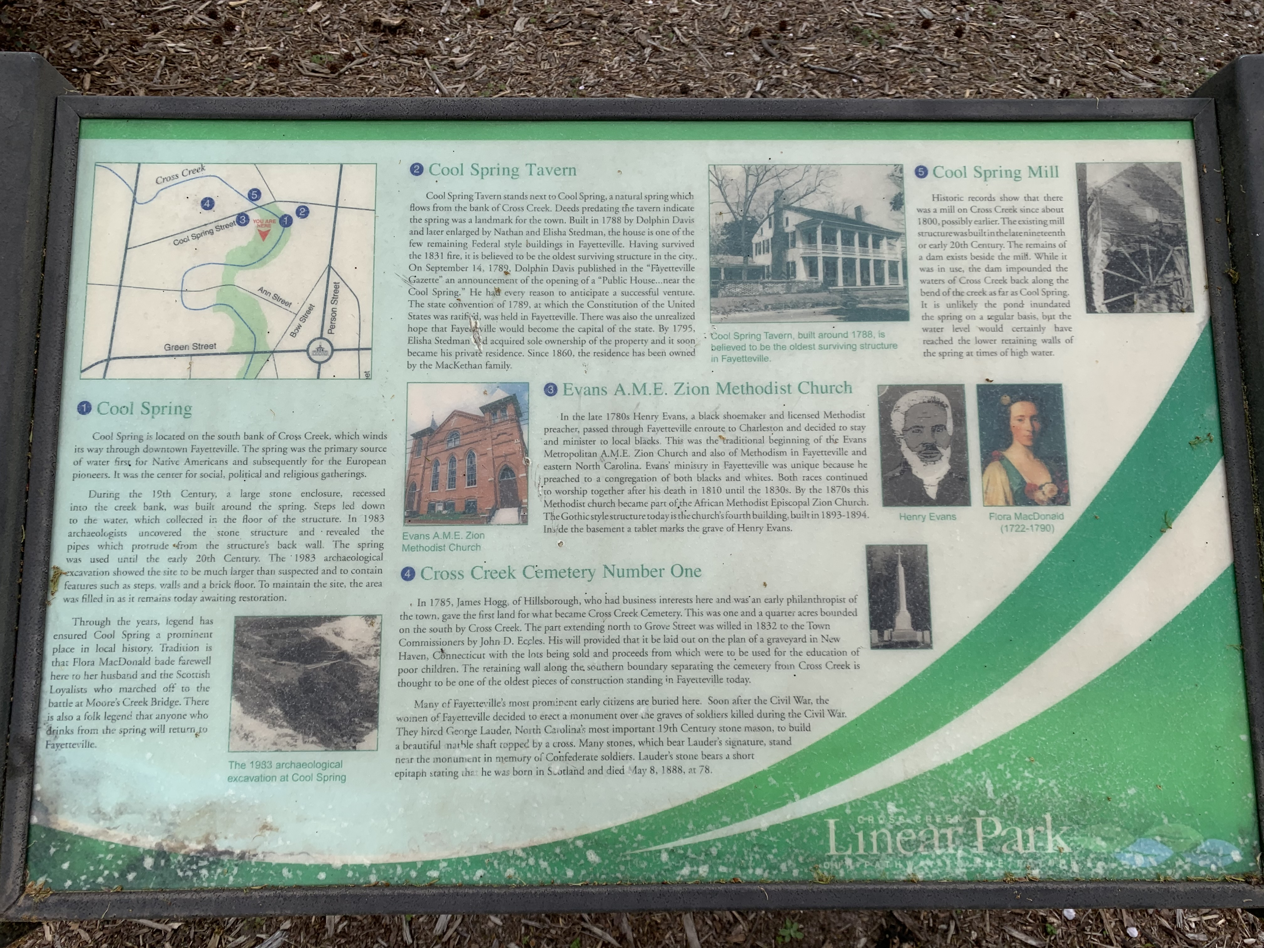 City of Fayetteville Historical Marker