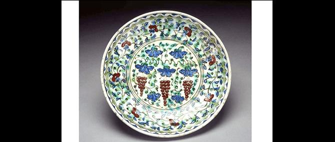 Dish, Iznik, Turkey, Ottoman, about 1600.