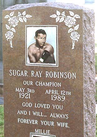 Sugar Ray Robinson Tombstone