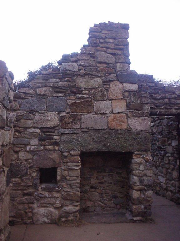 Interior of cottage ruins