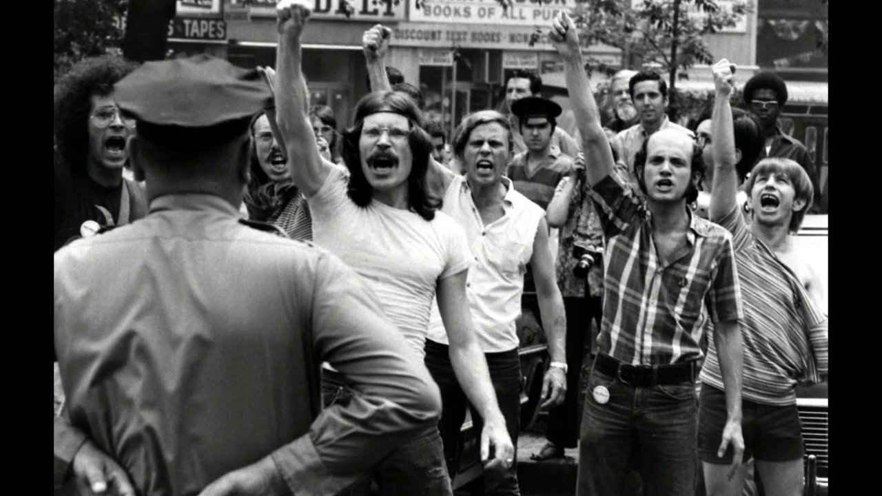 Protesters in the days following the initial riot.