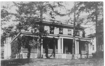 Historical photo of the Rogers House.