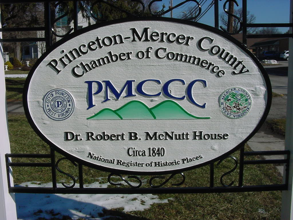 The historic McNutt House is home to the Princeton-Mercer Country Chamber of Commerce
