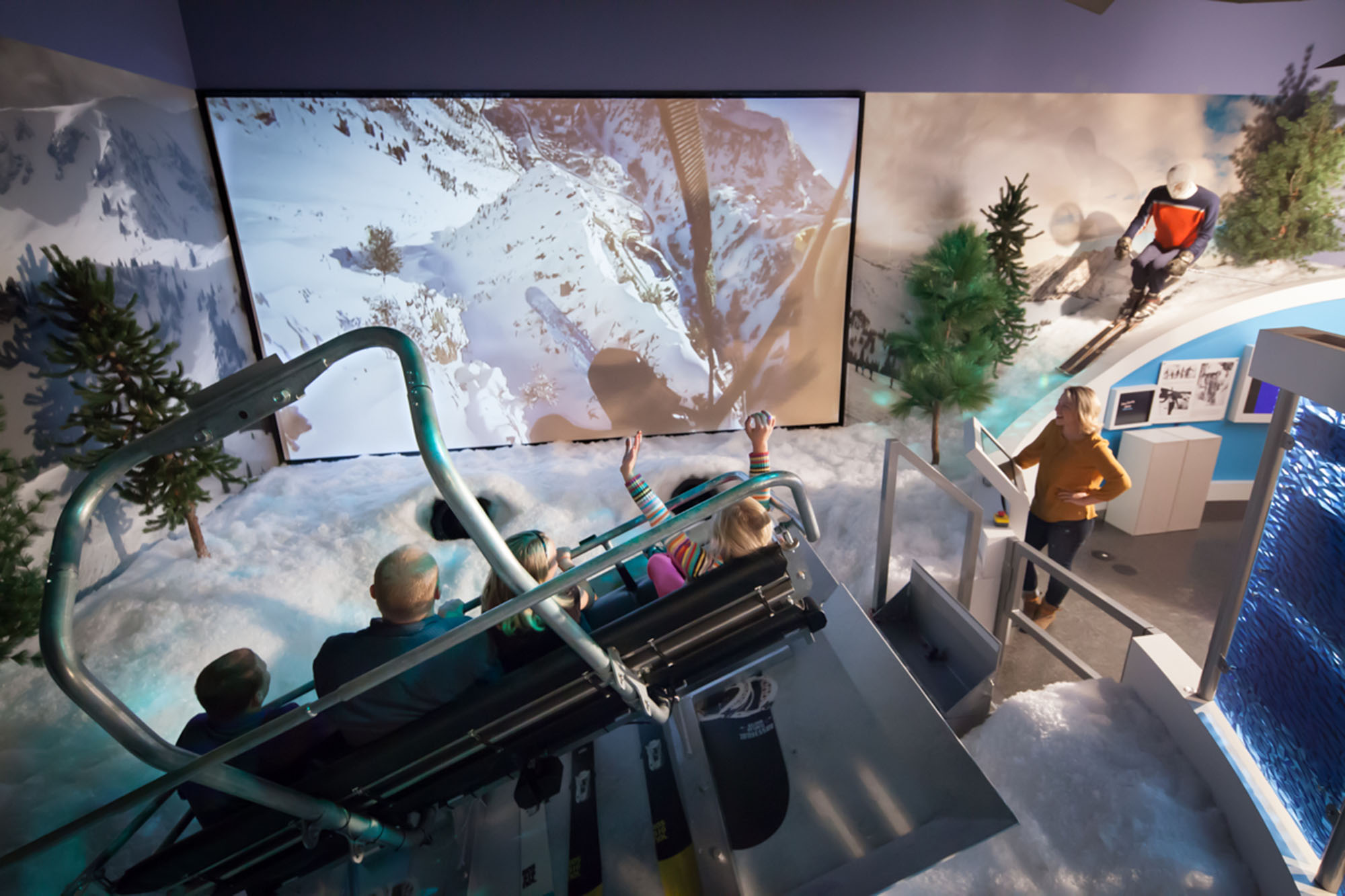 The Virtual Ski Experience ride that allows riders of all ages and abilities to experience what it would be like to go skiing.