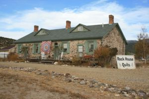 One of the few remaining Fort Cameron buildings that has now been turned into a quilt shop.