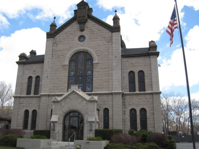 Congregation B'nai Israel, the First Synagogue in Salt Lake City, Utah, was built in 1891.
