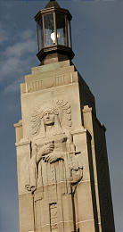 Close up of the carving at the top of the monument.