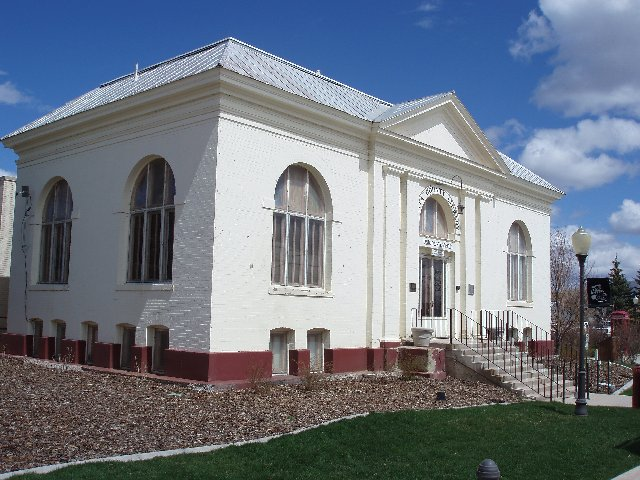 Front of the Museum in what used to be the Carnegie Library.