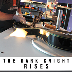 Justin assembled The Dark Knight Rises from 49 individual film reels!