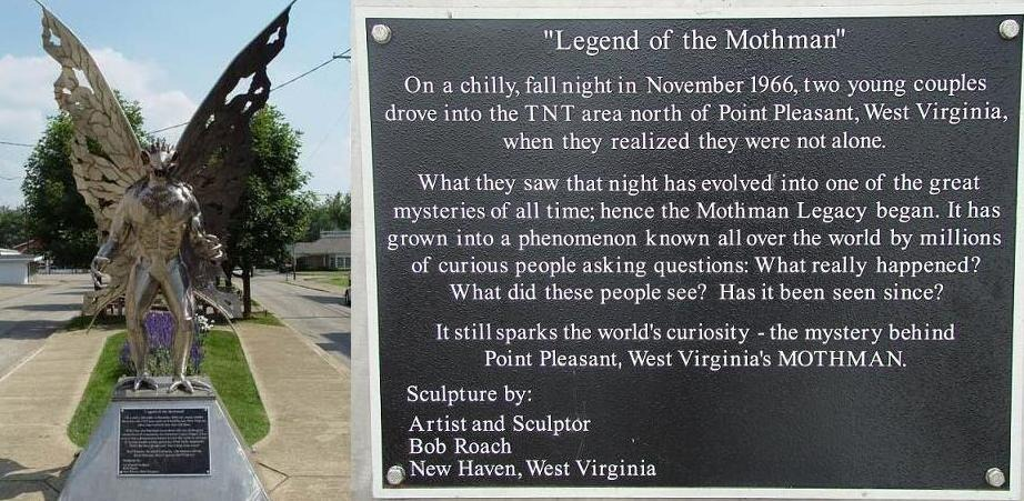 The placard on the statue.