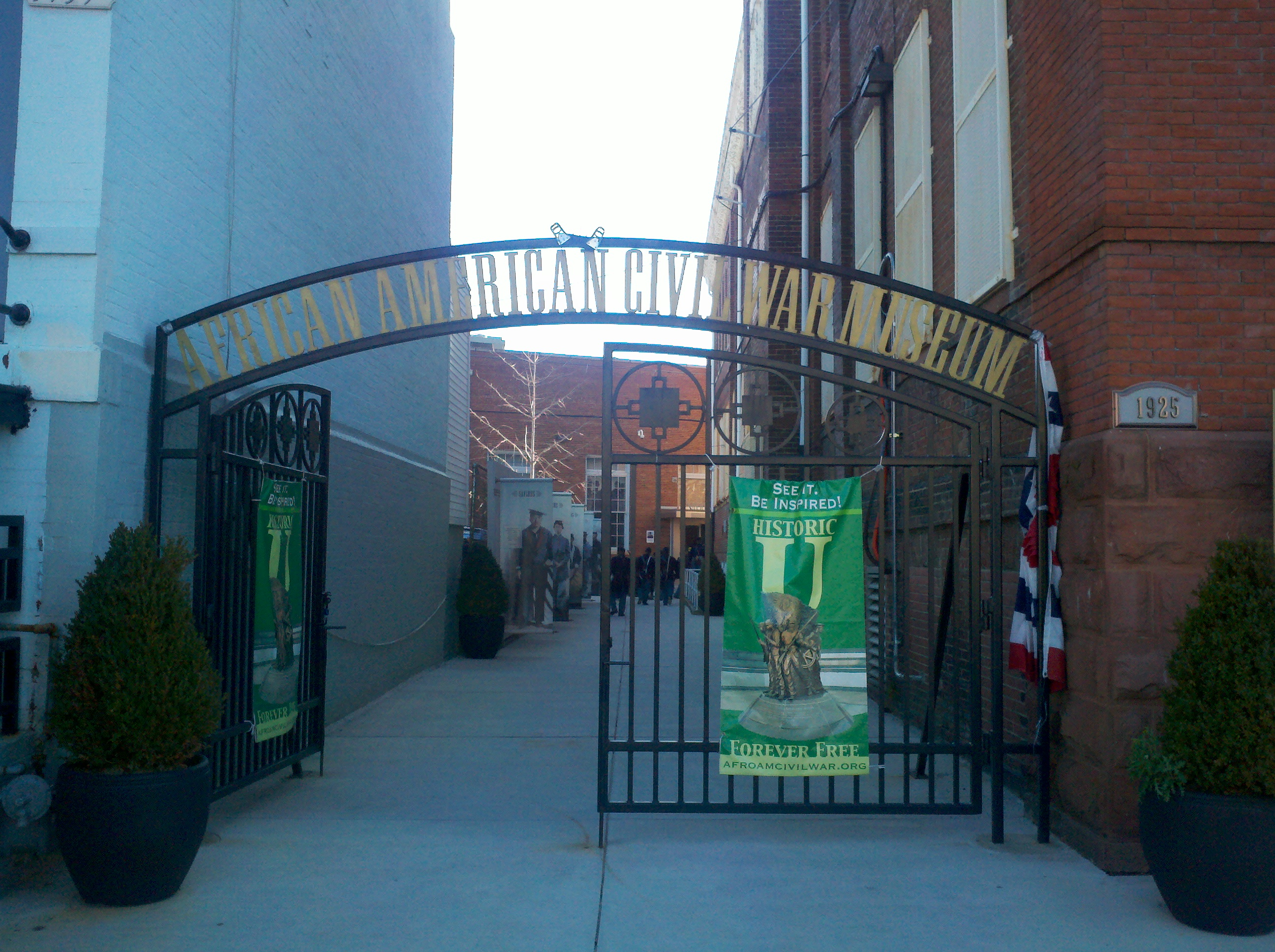 African American Civil War Museum Entrance Gate.