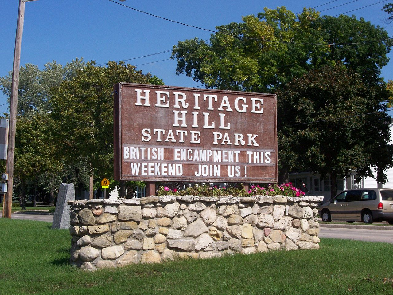The park's sign at the entrance