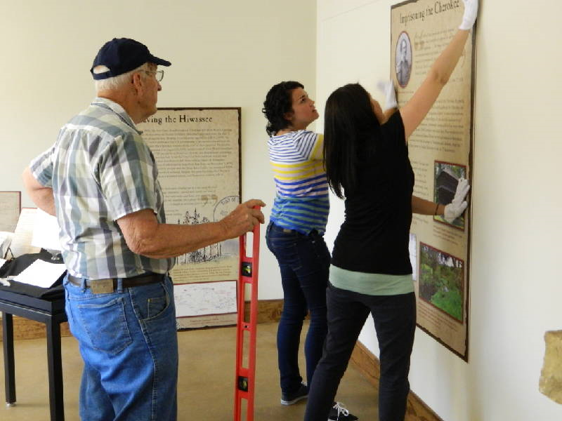 The Hiwassee River Heritage Center opening preparations. Courtesy of timesfreepress.