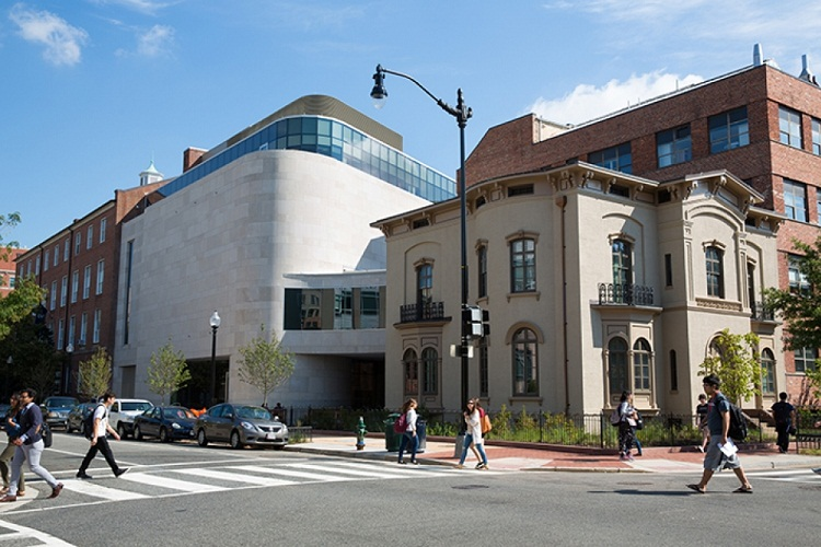 The new galleries of the The Textile Museum are located in GW's Foggy Bottom Campus together with  The George Washington University Museum (2015).