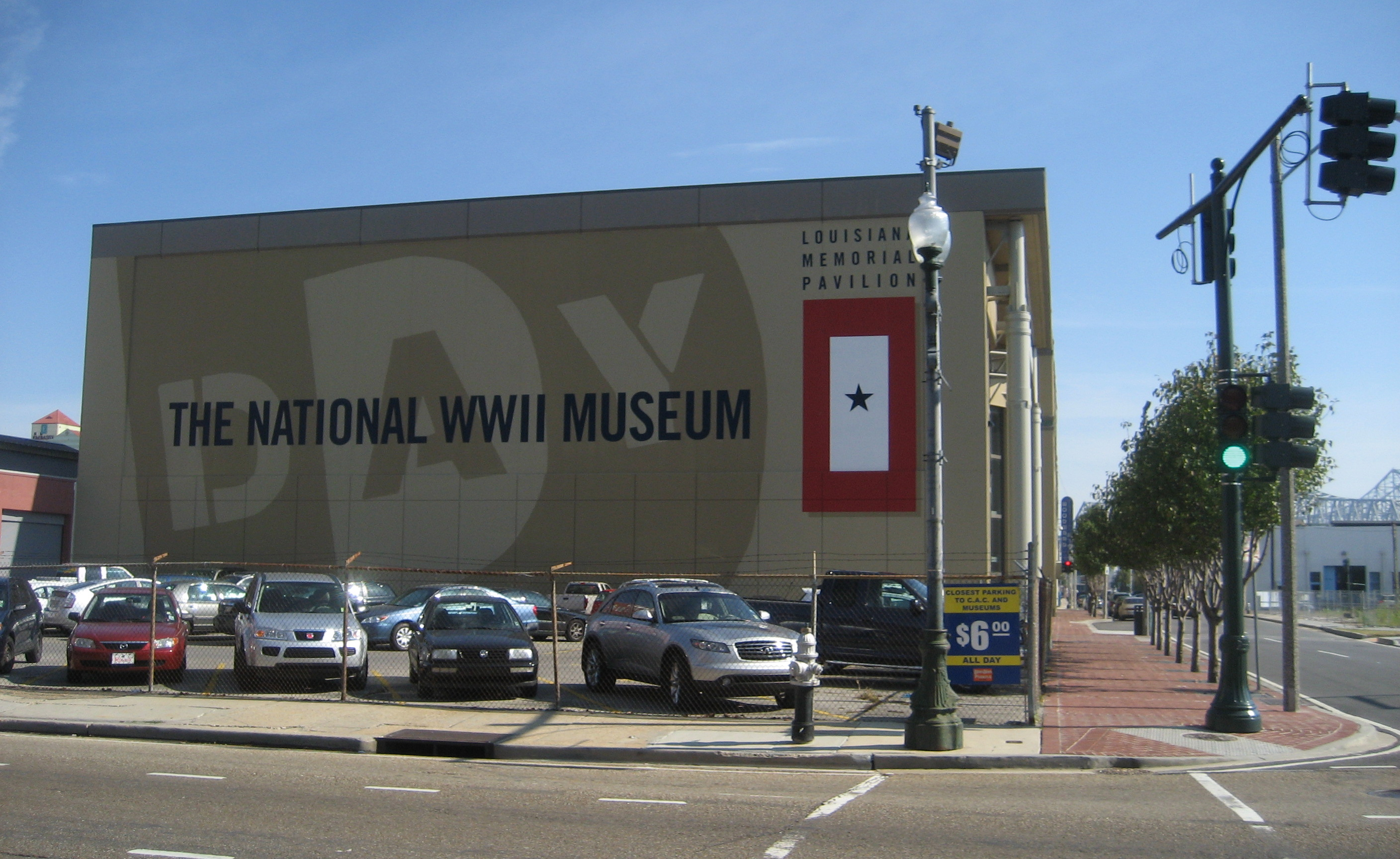 The building that started it all, the museum's Louisiana Memorial Pavilion.