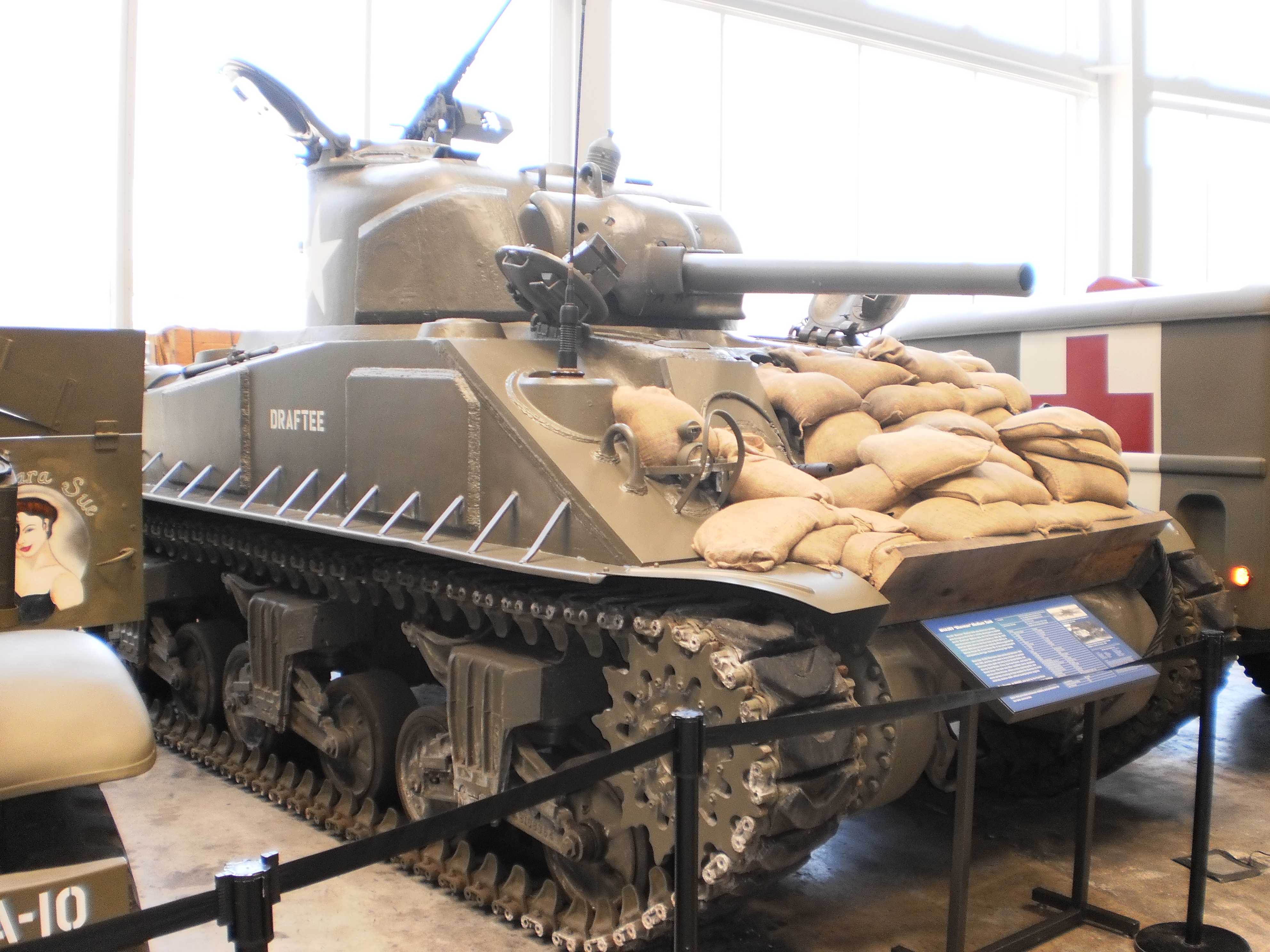 This Sherman tank is just one of the thousands of artifacts the museum has on display at any one time.