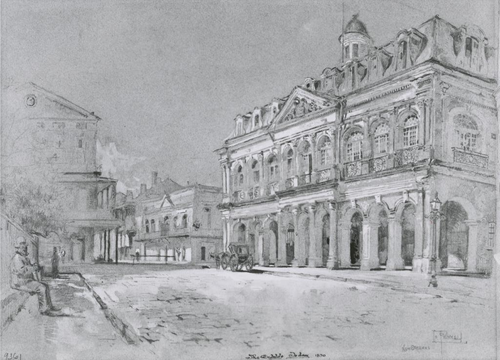 The Cabildo in 1890.  Courtesy of Louisiana State Museum.