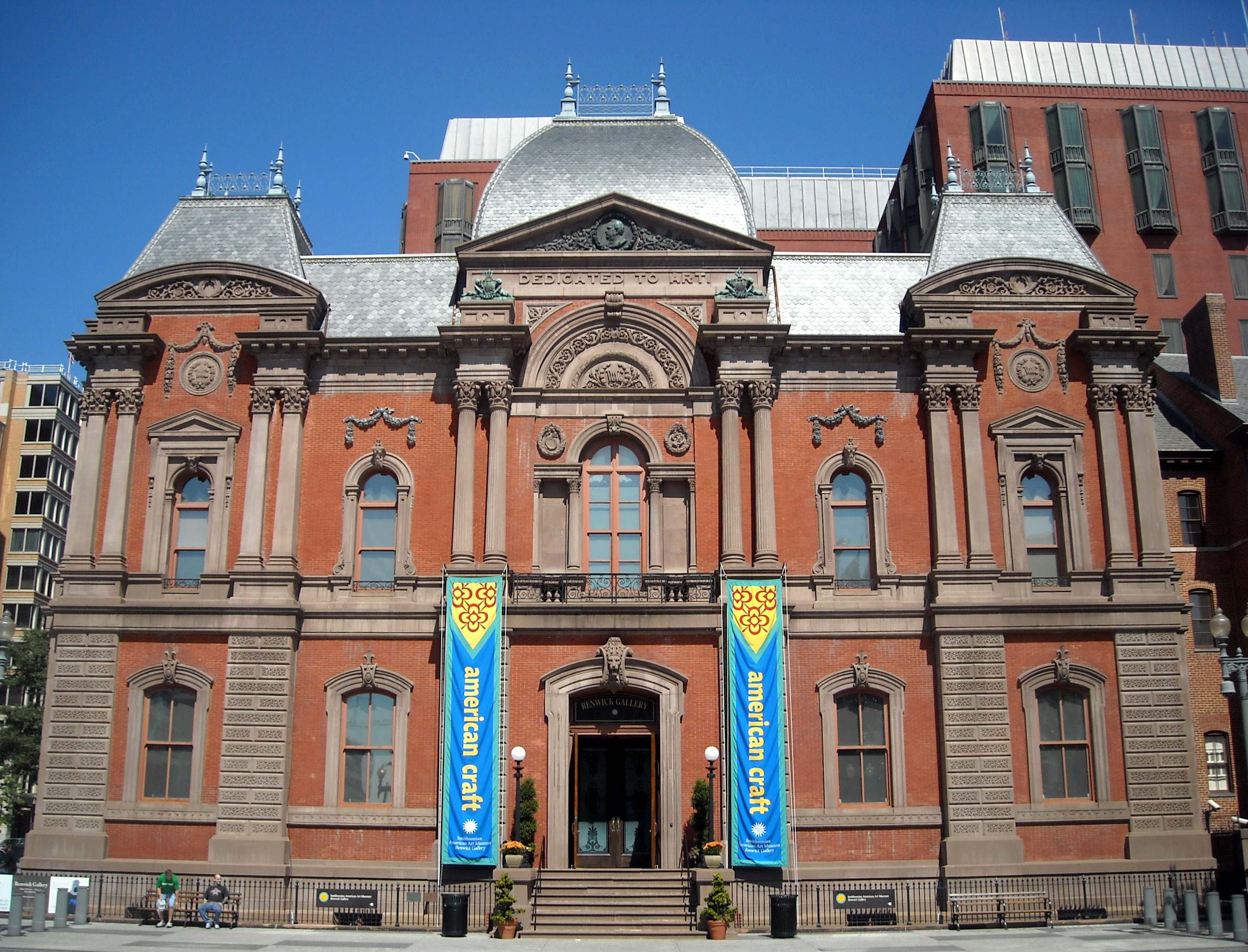 The Renwick Gallery, a branch of the Smithsonian American Art Museum since 1972. Image by AgnosticPreachersKid. Licensed under CC BY-SA 3.0 via Wikimedia Commons.