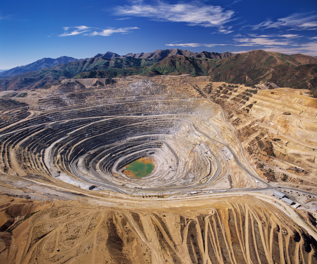 Beautiful view of the open pit.