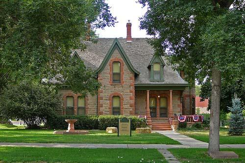 Front view of the Avery House that also houses weddings and special events.