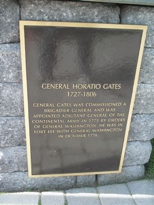 Photograph of the General Horatio Gates Historical Marker.
