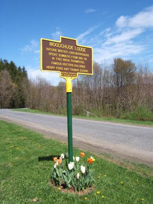 John Burroughs Woodchuck Lodge's marker