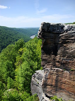 Raven Rock is a popular destination at Coopers Rock, with gorgeous views worth the moderate hike