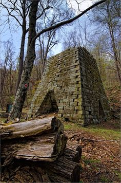 The Henry Clay Furnace operated until around 1838 and is the only remaining structure left of a village in the mountains. Today it is accessible by hiking the Clay Furnace Trail