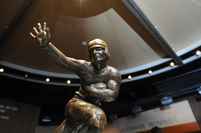 The former museum's Heisman Gallery